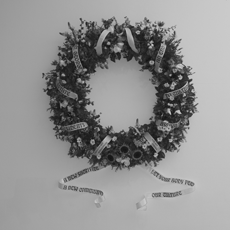 ROMAN VASSEUR, Murder Considered as a Fine Art...(Garland Installed at the ICA)